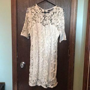 Off-white croquet dress.